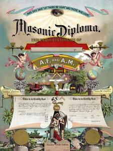 Masonic diploma, 1891