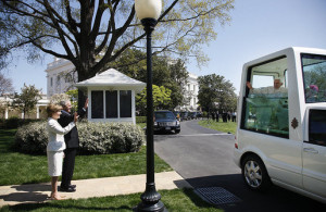 Arrival of Pope at White House