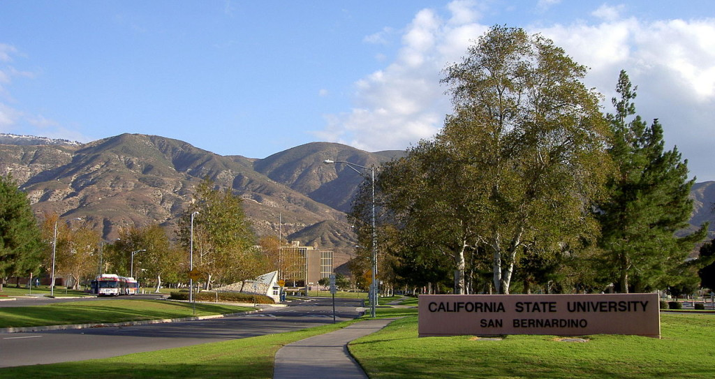 Is the San Bernardino Police Department Parking Empty Police